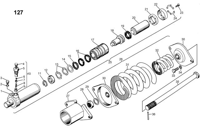 Механизм натяжения, сдавания для трактора и бульдозера